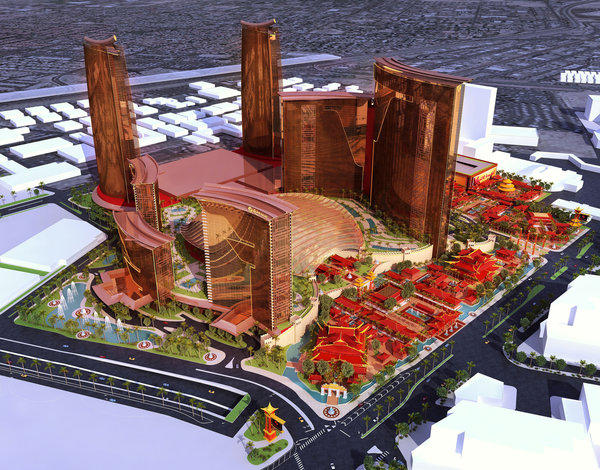 An artist's rendering of Resorts World Las Vegas, which is scheduled to open in 2016.