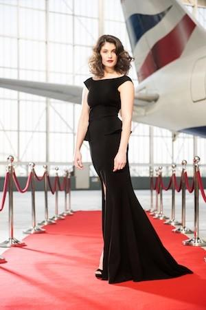 Actress Gemma Arterton appeared on the red carpet to launch British Airways' A380 Airbus service between London and Los Angeles. British Airways released this digitally altered photo as part of the launch.