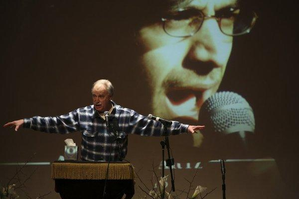 Family and friends continue to speak out on behalf of Aaron Swartz, 26, who committed suicide while facing federal charges. Above, David Isenberg speaks during a January memorial service.