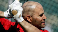 "TEMPE, Ariz. — Albert Pujols has won three most-valuable-player awards and two World Series titles and hit 475 home runs over his illustrious 12-year career, but the Angels slugger still admitted to being ""a little bit nervous"" before his first at-bat of the spring Tuesday."