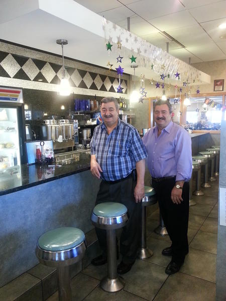 Parkland Restaurant owners and brothers Pantelis (Pete) Dontas (left) and Lambros (Louie) Dontas are celebrating 30 years of success at the 2702 Walbert Ave., Allentown, eatery.