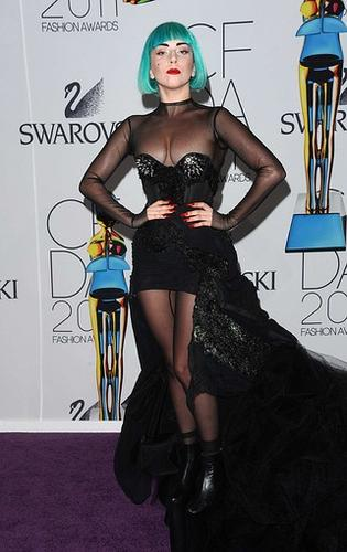 Lady Gaga might be the perfect symbol for the Council of Fashion Designers of America Awards, held this year at Alice Tully Hall in New York's Lincoln Center, drawing models, designers and celebrities from around the world.  Lady Gaga received the organization's Fashion Icon Award. The awards recognize contributions made to American fashion by people from all areas of the industry.