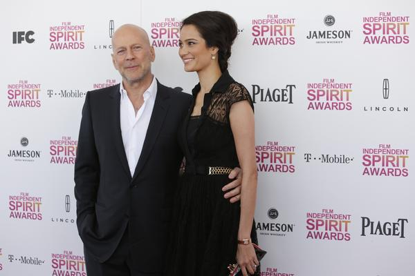 Actor Bruce Willis and Emma Heming