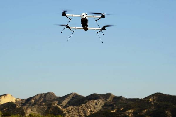 AeroVironment is the Pentagon's top supplier of small drones -- including the Qube, above -- that give troops a bird's-eye view of what's happening over a ridge or around a bend.