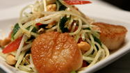 Rick Moonen's green papaya salad at RM Seafood