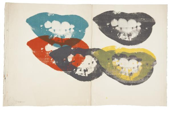 Andy Warhol lithograph of Marilyn Monroe's lips