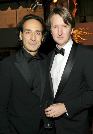 "Composer Alexandre Desplat and ""The King's Speech"" director Tom Hooper attend Relativity Media's and the Weinstein Co.'s 2011 Golden Globe Awards after-party at the Beverly Hilton."