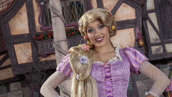 Rapunzel at Disneyland's new Fantasy Faire