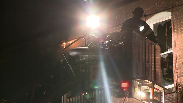 Firefighters responded to an early morning fire at an apartment building in Hartford.