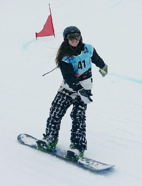 Madison Wellman of Boyne City will compete in the United State of America Snowboard Association Nationals beginning March 30 at Copper Mountain, Colo.