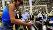 In May, Gov. Tom Corbett stopped by the $35 million cardboard box plant that Pratt Corrugated Materials opened five months before in Lower Macungie Township.