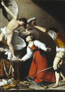 Carlo Saraceni The Martyrdom of Saint Cecilia c. 1610 Oil on canvas Los Angeles County Museum of Art, gift of The Ahmanson