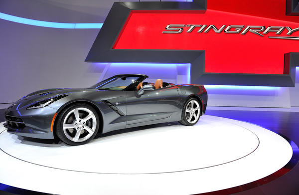 The new Chevrolet Corvette Stingray convertible is seen during the 83rd Geneva Motor Show on March 5, 2013 in Geneva, Switzerland.