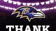 A month after beating the San Francisco 49ers in the Super Bowl in New Orleans, the Ravens thanked the host city Wednesday by taking an ad out in <em>The New Orleans Times-Picayune</em> and donating a gift to the city.