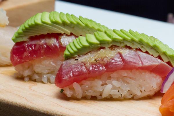 Tuna truffle nigiri bites at Sushi Dokku