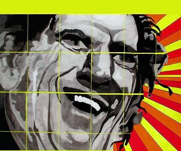 Portrait of Keith Richards, by Eilette Markhbein.