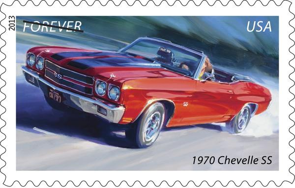 With features like optional twin racing stripes, the 1970 Chevelle SS looked mean. SS stood for Super Sport. A 396-cubic-inch engine was available, but a 454-cubic-inch engine option gave the 1970 Chevelle SS credibility among muscle car enthusiasts. Two versions of the 454 engine were available: the 360-horsepower LS-5 and the 450-horsepower LS-6.