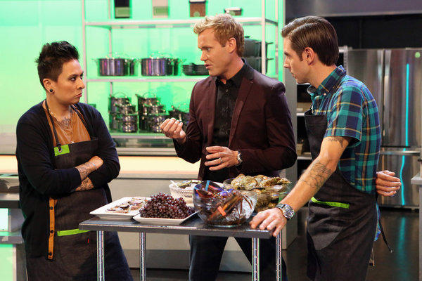 "From left, Khristianne Uy, Brian Malarkey and Jeff Mahin on ABC's ""The Taste."""
