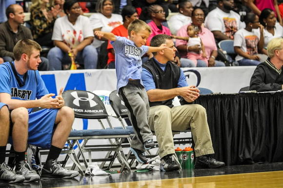 Hagerty coach Josh Kohn became the 3rd member of his family to coach an area boys basketball team to a state title last week. Is his son, Asa, 5, a state championship coach in the making? No pressure, Asa. (Joshua C. Cruey, Orlando Sentinel)