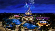 Walt Disney Co. unveiled the first computer rendering of its Shanghai Disney Resort at the company's annual meeting in Phoenix on Wednesday morning.