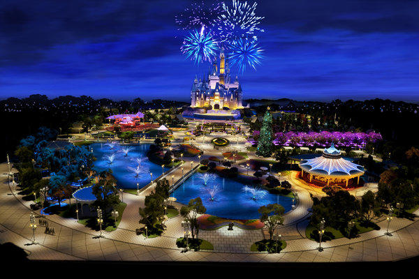 Walt Disney Co. unveiled on Wednesday at its annual meeting the first rendering of Shanghai Disney Resort.