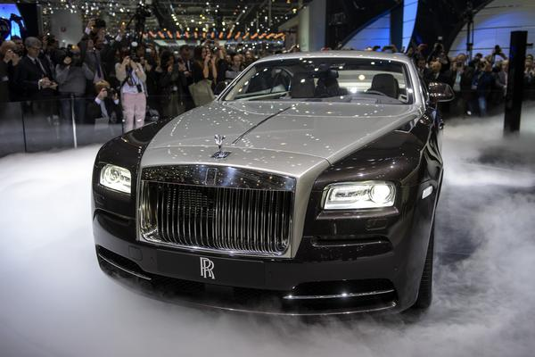 The new Rolls Royce the Wraith is presented at the British carmaker's booth on March 5, 2013 on the press day of the Geneva car Show.