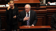 SPRINGFIELD — Gov. Pat Quinn chastised lawmakers for failing to pass cost-cutting changes to the government worker retirement system, then dangled the possibility that he'd drop his long-running opposition to a major gambling expansion to get a pension deal done.