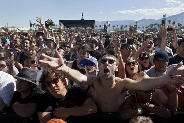 The two weekend festival in Indio, Calif. is one of the gold standards of every festival season. Headliners this year include The Stone Roses, Blur, Red Hot Chili Peppers and Phoenix. Some feel like the music can be beat this year but the weather definitely can't.
