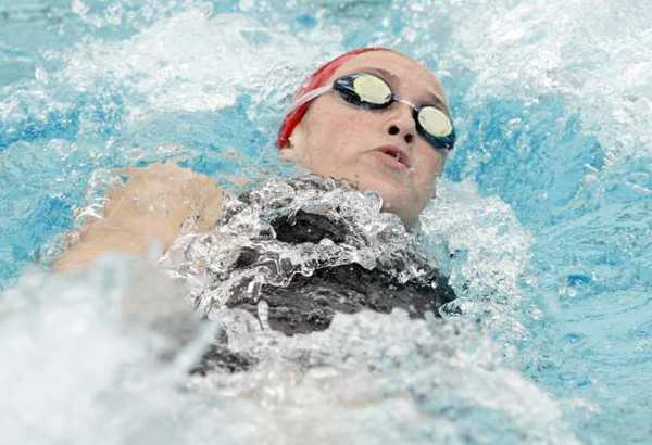 ARCHIVE PHOTO: FSHA's Kirsten Vose participates in the individual medley during a swim meet L.A. Valley College pool in Van Nuys on Tuesday, May 1, 2012.