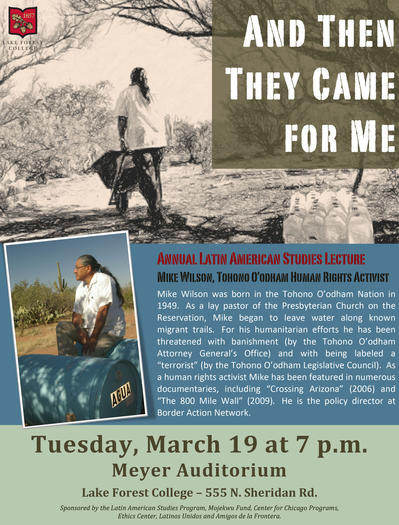 Human rights activist to deliver annual Latin American Studies Lecture at Lake Forest College