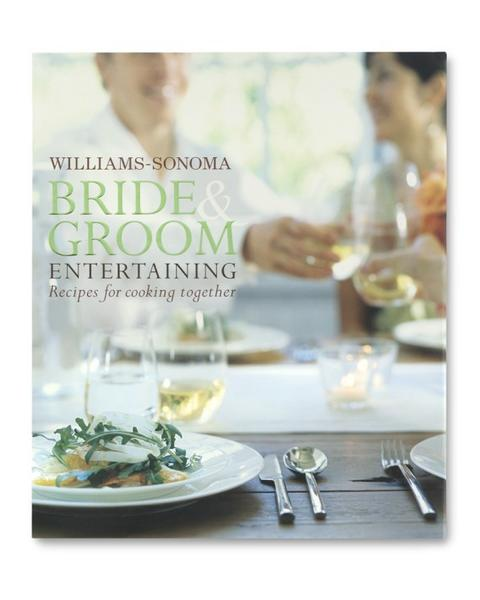 "Williams-Sonoma Bride & Groom Entertaining, $34.95, <a href=""http://www.williams-sonoma.com/products/9848060/?wlitemid=9848060&wlid=qsqtx6lxq8&ggfrl=1""><b>williams-sonoma.com</b></a>."