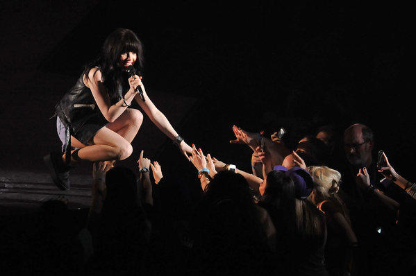 Carly Rae Jepsen performs at the 02 Arena on March 4 in London.