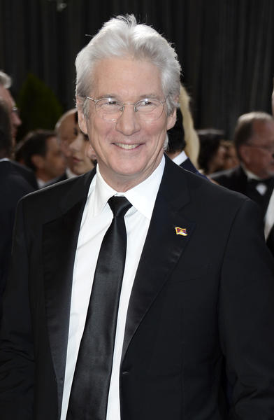 Actor Richard Gere arrives at the Oscars on February 24, 2013 in Hollywood.