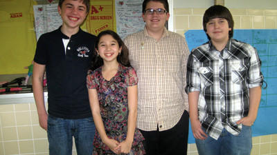 Somerset Team A members from left: Cole Stephens, Rosalind Chan, Owen Raygor, Jarod Cramer