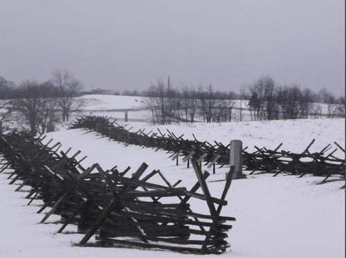 Antietam Battlefield is seen after Wednesday's snow.