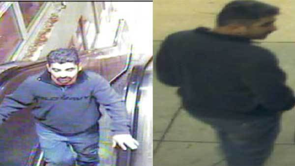 Surveillance photos of a man sought in an attempted sex assault.