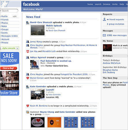 News Feed launched to an uproar in 2006. Many users felt the new feature that alerted all of their friends to what they were posting on Facebook violated their privacy. They organized protests and threatened boycotts. But Facebook refused to roll back the feature. It did eventually give users more privacy controls.