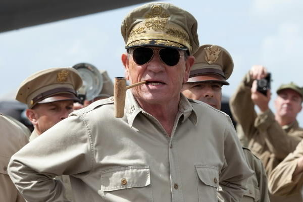 "Tommy Lee Jones stars as Gen. Douglas MacArthur in ""Emperor."""