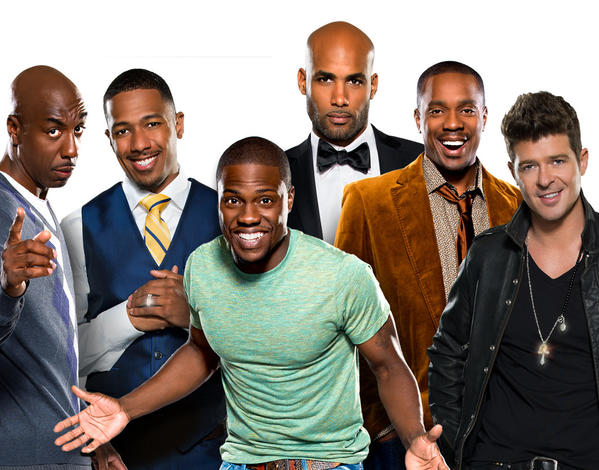 "The cast of ""Real Husbands of Hollywood."""