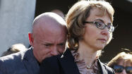 Survivors of the 2011 mass shooting in Tucson, Ariz., including former Rep. Gabrielle Giffords, and victims' loved ones gathered at the site of the attack Wednesday to call for tougher gun-control laws.