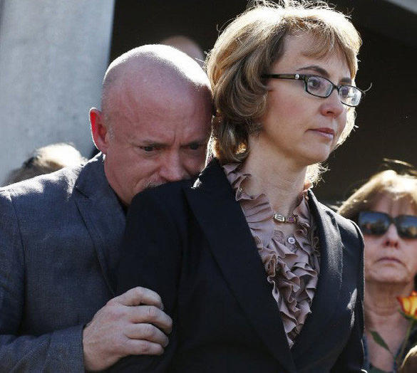 Former Rep. Gabrielle Giffords with  husband Mark Kelly,