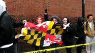 VIDEO Terps fans brave the elements