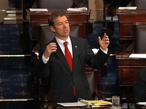 Sen. Rand Paul filibusters the nomination of John Brennan to lead the CIA.
