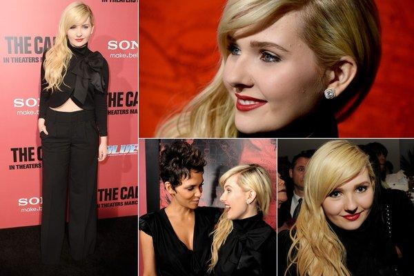 "Abigail Breslin, now 16, shows off her sophisticated adult look at the premiere of ""The Call,"" starring Halle Berry, in Los Angeles."