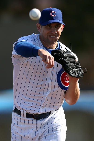 Chicago Cubs' Shawn Camp during spring training at Fitch Park in Mesa, Arizona on Monday, Feb. 18, 2013. (Scott Strazzante/Chicago Tribune) B582726363Z.1 ....OUTSIDE TRIBUNE CO.- NO MAGS, NO SALES, NO INTERNET, NO TV, CHICAGO OUT, NO DIGITAL MANIPULATION...