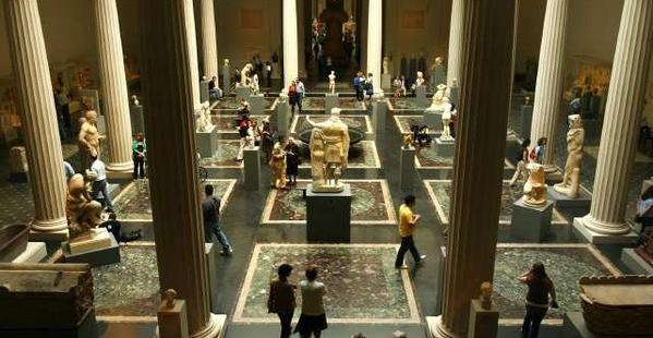 A view of the Greek and Roman classical art galleries at the Metropolitan Museum of Art in New York.