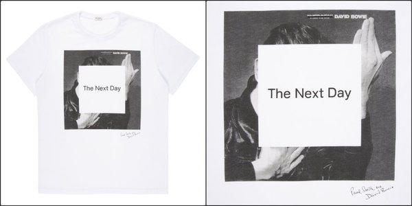 The Paul Smith for David Bowie T-shirt ($145) includes cover artwork from Bowie's new album.