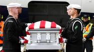 USS Monitor Sailor's remains arrive at Dulles