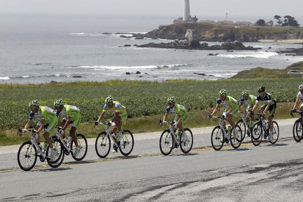 Cyclists compete in the 2012 Amgen Tour of California.