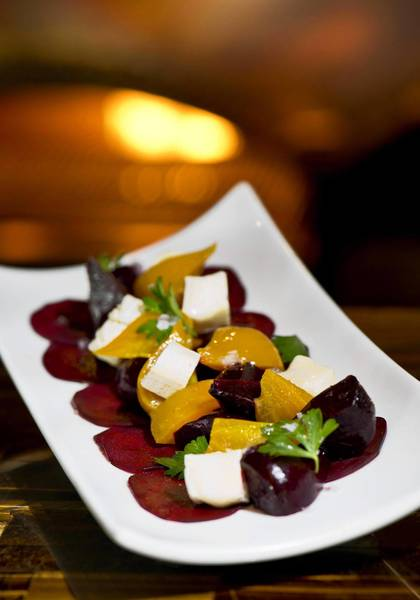 Roasted beet and robiola cheese salad at da Campo Osteria in Fort Lauderdale.